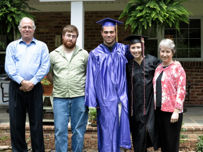 2012 Graduation, with the fam.
